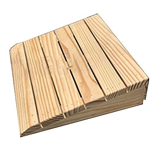 Lqdp Rampas Rampas de umbral para Puertas de 7 cm de Alto, rampas de Madera portátiles para sillas de Ruedas para escalones, rampa de acera fácil, (Color Natural