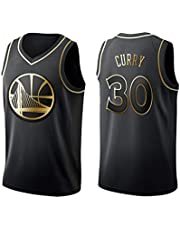 Camiseta de Baloncesto para Hombre y Unisex: Camiseta Stephen Curry Retro No. 30 Golden State Warriors, Camiseta sin Mangas clásica (edición Dorada)