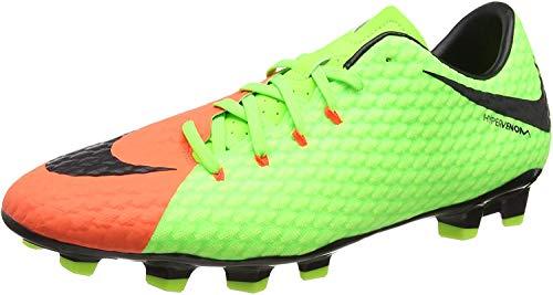 Nike Hypervenom Phelon 3 Fg, Scarpe da Calcio Uomo, Verde (Elctrc Green/Blk/Hypr Orng/Vlt), 40 EU