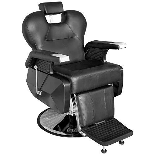 Onof Sillon Reclinable Barberia Silla Estetica Salon Hidraulico (Negro)
