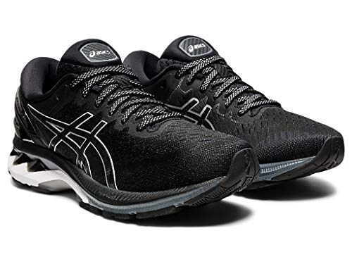 ASICS Women's Gel-Kayano 27 Running Shoes, 8.5M, Black/Pure Silver
