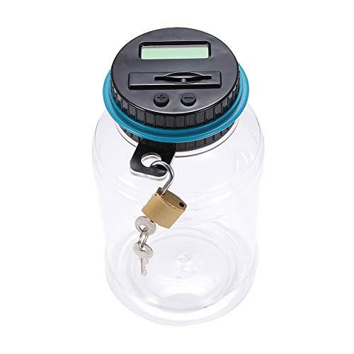 PPuujia Hucha contador de monedas electrónico digital LCD conteo moneda ahorro de dinero caja de almacenamiento para dinero Euro GBP (color: GBP)