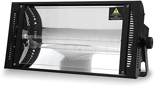 Showlite LS-1500DMX 1500W Dimmer Stroboskop (DMX steuerbar, 2 DMX Kanäle, stufenlose Regelung von Frequenz und Helligkeit, sehr leichte...
