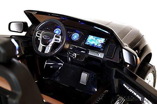 RC Auto kaufen Kinderauto Bild 5: RIRICAR Ford Ranger Wildtrak 4X4 LCD Luxury, Elektro Kinderfahrzeug, LCD-Bildschirm, schwarz - 2.4Ghz, 2 x 12V, 4 X Motor, Fernbedienung, 2-Sitze in Leder, Soft Eva Räder, Bluetooth*