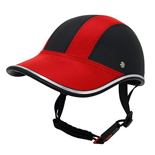FROFILE Bike Helmet Adults-Cycling-Bicycle Baseball-Helmet - (Red) Adjustable Camping Safe Mountain Bike Helmet for Men Women Teen