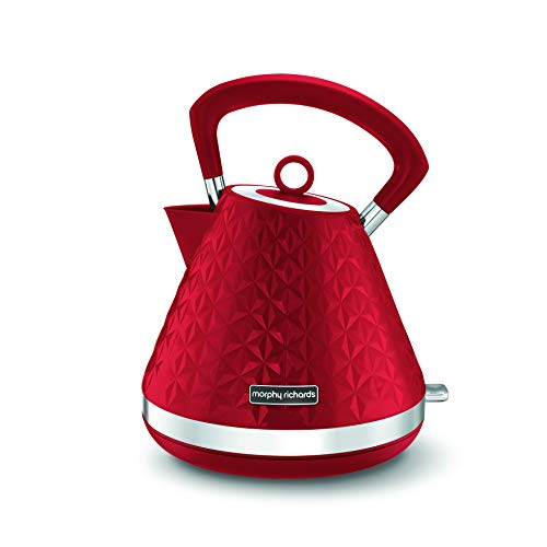 Morphy Richards Vector Pyramid Kettle 108133 Bouilloire Traditionnelle Rouge
