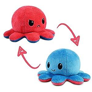 TeeTurtle | The Original Reversible Octopus Plushie | Patented Design | Light Blue + Dark Blue | Day + Night | Show Your…