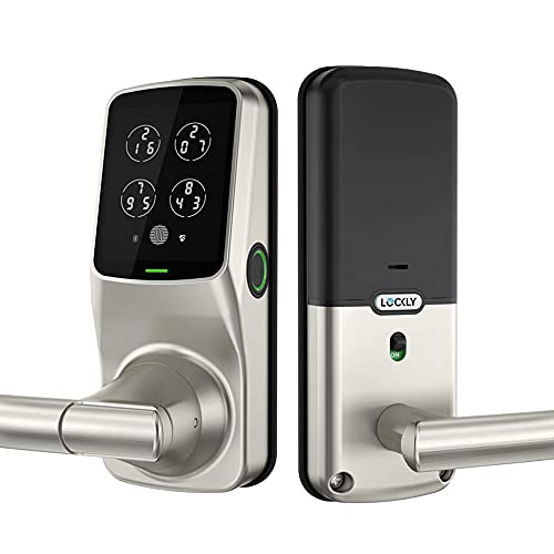 Lockly PGD628FSN Secure Plus Smart Fingerprint Lock with Handle and Digital Keypad, Keyless Entry...