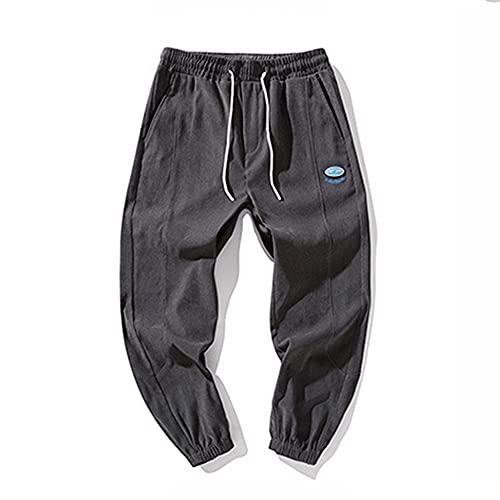 XIANGHUI Pantalones Deportivos Hombres Algodón Pantalón de Chándal Elásticos Transpirables con Bolsillos Laterales para Deporte Gimnasio Fitness Correr