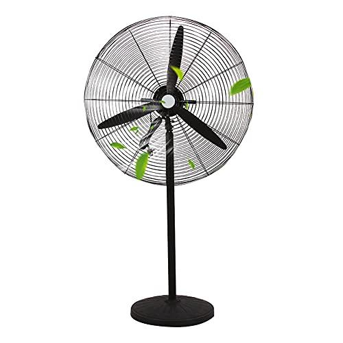 ADASP ventilador de Pedestal, Ventilador de pie, Ventilador de Piso oscilante, Ventilador de enfriamiento de Alta Velocidad, para Patios, Industrial, Comercial, residencial, Uso en Invernadero, negr