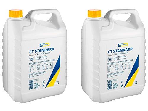 2x Cartechnic 5 Liter Kühlerfrostschutz Anti-Freeze Gelb Yellow CT Standard Kühlflüssigkeit Frostschutz