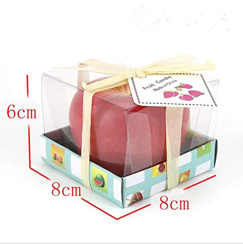 Anklord Big apple candles set 4pcs, gift pack,Atmosphere of the candle,Christmas apple,Chrismas present box,Gifts for Women on Mother's Day, Birthday, Festivals, Wedding,Candlelight dinner