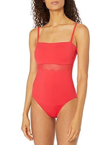 Seafolly Petal Edge DD Maillot bañadores, Rojo (Chilli Chilli), 80DD (Talla del Fabricante: 14) para Mujer
