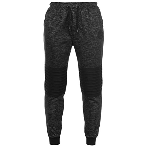 Everlast Herren Boston Sweatpants Fleece Jogginghose Mit Bündchen Black Marl L