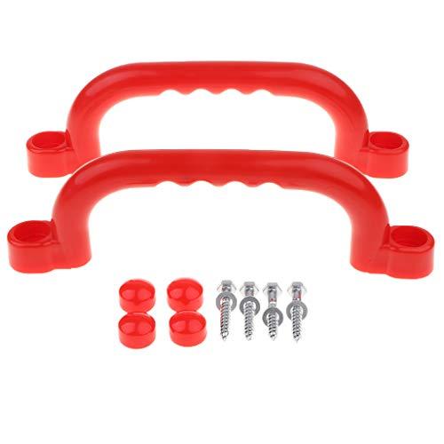 1 Paar Haltegriffe Für Spielgeräte, Spieltürme, Stelzenhäuser, Spielhäuser und Spielanlagen - rot