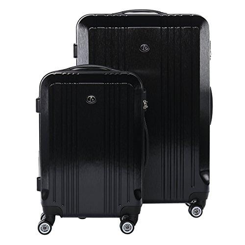 FERGÉ Juego 2 Maletas rígidas de Viaje Cannes Maleta Cabina 55 cm Maleta Grande Equipaje 2 Piezas con 4 Ruedas giratorias Negro