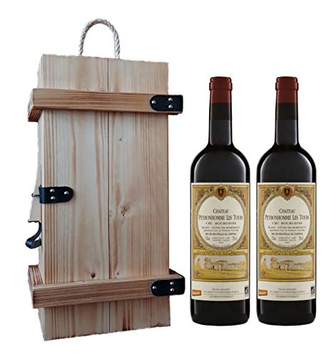 Bordeaux Biowein-Set in Holzkiste (2 x 750 ml)