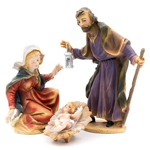 MAROLIN Heilige Familie (4-teiliges Set), zu 12cm Fig. (Kunststoff)