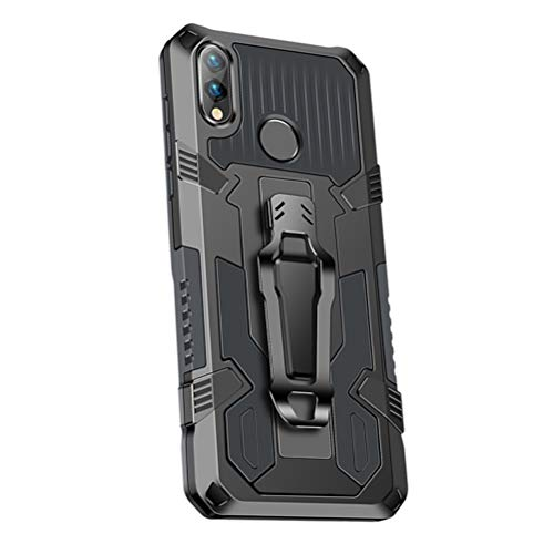 SHUNDA Capa para Xiaomi Redmi Note 7, armadura de proteção de nível militar com absorção de choque, suporte integrado - cinza