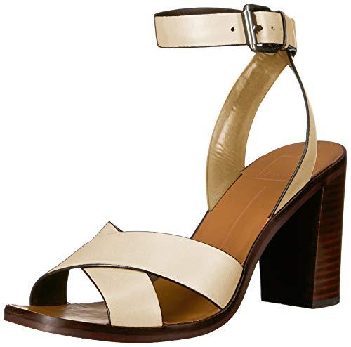 Dolce Vita Women's NALA Sandal, Ivory Leather, 5.5 M US