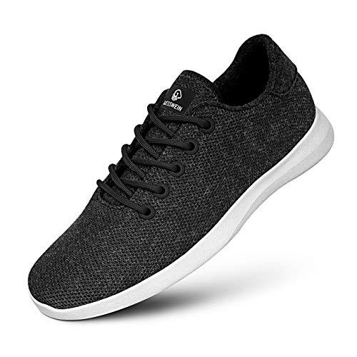 GIESSWEIN Merino Wool Knit Men - Atmungsaktive Herren Sneakers aus Merino Wool 3D Stretch, Sportliche Freizeitschuh, Barfuß- Schuhe