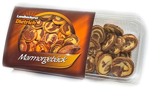 Marmorgebäck 250g - feinstes Gebäck zum Kaffee oder Tee - handwerkliche Herstellung altbewährte Rezeptur - Tradition seit 1911 Landbäckerei Dietrich