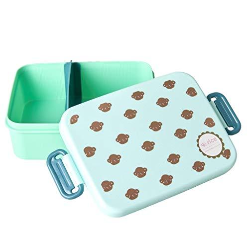 Rice Kinder Lunchbox mit Einteilung Trenner mit Affen - Monkey Print
