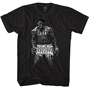 Muhammad Ali 60s Goat Greatest Boxer Quote Me Black Adult T-Shirt Tee