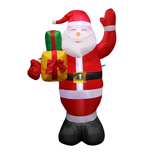 Mokylor 150cm LED Illuminated Inflatable Santa Claus Air Pump Inflatable Toys Night Lamp Outdoor Holiday Christmas New Year Party Decorations