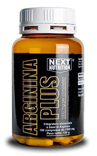 Arginina 100 Compresse 1000 mg per Compressa Amminoacido Essenziale Incrementa la Crescita Muscolare la Forza Alza i Livelli di Ossido Nitrico Favorisce la Sintesi delle Proteine Vigore Sessuale