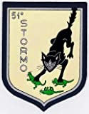 PATCHMANIA Italian Patch Air Force Aeronautica Militare AM Stormo 51 F 86 97mm x 76mm Toppe Ricamate TERMOADESIVA Patch