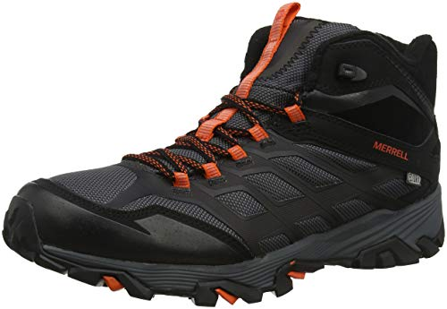 Merrell Herren Moab FST Ice+ Thermo Trekking-& Wanderstiefel, Schwarz (Black/Orange), 43.5 EU