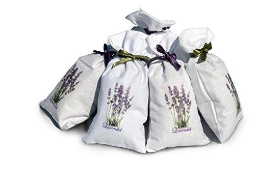 6 x Lavendelsäckchen mit 100% kroatischem, natürlichem Lavendel in Premiumqualität - handgefertigte Duftsäckchen aus Kroatien