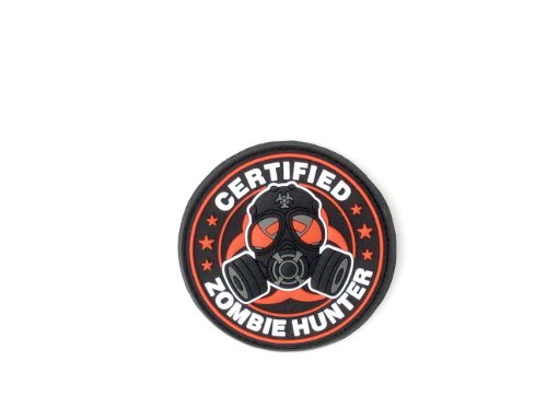 Zombie Hunter certificado PVC parche Velcro Airsoft