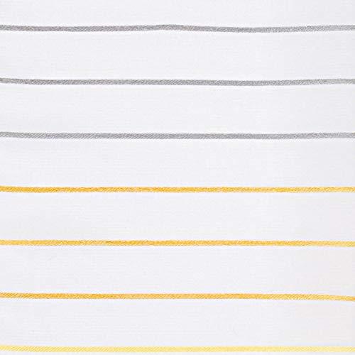 Neutex Gardinenstoff Flächenvorhang Paneele Meterware Malados Querstreifen weiß gelb grau 60cm Breite