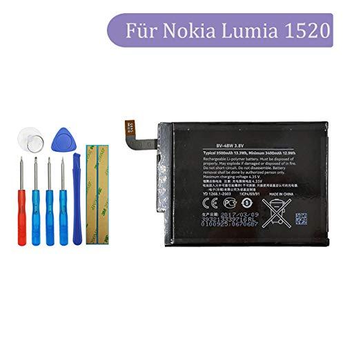 Tangzhi BV-4BW Ersatz Akku Kompatibel mit Nokia Lumia 1520, 3,8 Volt, 3500mAh with Toolkit