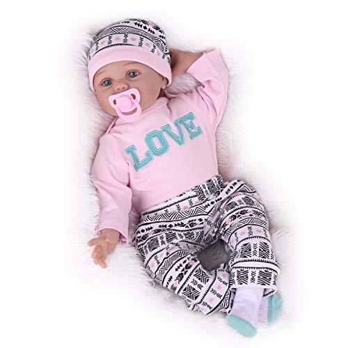 Kaydora Reborn Baby Doll,22 inch Lifelike Weighted Baby Girl Newborn Doll