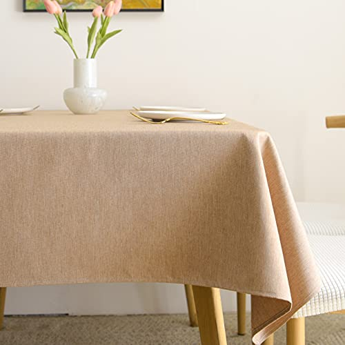 JYXJJKK Mantel Simple De Color Sólido,Mantel Impermeable De Algodón Y Lino,Tapete De Mesa De Escritorio Rectangular-H 90 * 135cm