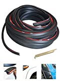 KING FENDER FLARES Edge Trim Rubber Gasket WELTING T-Style 30' FEET - with Alignment Tool for CAR and Truck Wheel Wells - Double Edge - Length 30' FEET - Automotive Adhesive Tape Bonds to Flare