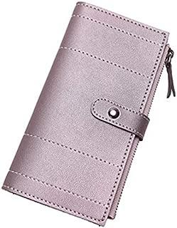 iBag's Women Wallets Retro Long Stripe Leather Wallet Coin Purse Card Holders Handbag