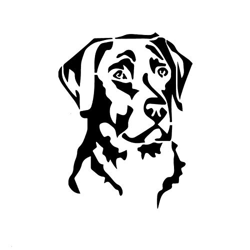 ZHYCT 2 Pcs, Car Stickers Silver Labrador Retriever Head Pet Dog Graffiti Sticker Decals Bumper Stickers Vinyls For Laptop Cars, Motorcycle, Bicycle, Skateboard