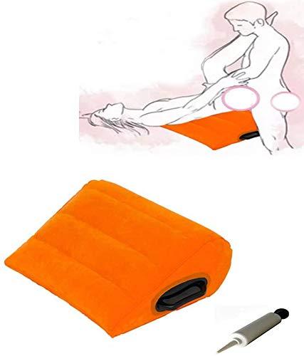 jansin Cojín Lumbar Inflable, Silla de Yoga Almohada, Silla de Yoga, Silla de Postura de Triángulo Grande, Naranja