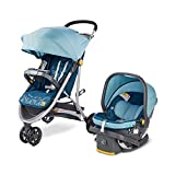 Century Stroll On 3-Wheel 2-in-1 Lightweight Travel System – Infant Car Seat and Stroller Combo, Splash