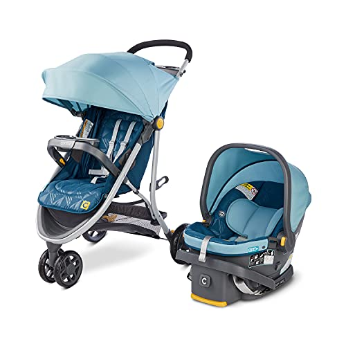 Century Stroll On 3-Wheel 2-in-1 Lightweight Travel System – Infant Car Seat and Stroller Combo,...