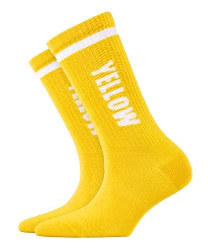 BURLINGTON Damen Socken Color Flash, 80prozent Baumwolle, 1 Paar, Gelb (Sun 1380), Größe: 36-41