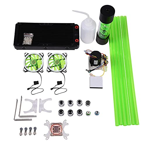 DIY 240mm Disipador de Calor CPU Bloque de Agua Depósito de Bomba LED Ventilador Compputer Kit de refrigeración por Agua, 27,5 * 11,8 * 3,2 cm