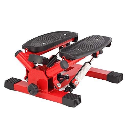 FZYE Silent Stepper Legs Brazo Muslo Ejercicio Fitness Toner Home Bodybuilding Step Machine con Cuerdas de Entrenamiento, Rojo