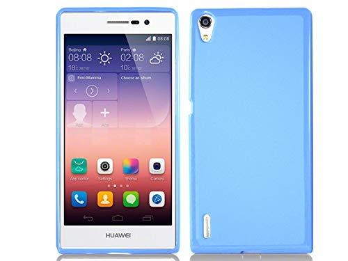 Funda Gel TPU Azul para Huawei Ascend P7