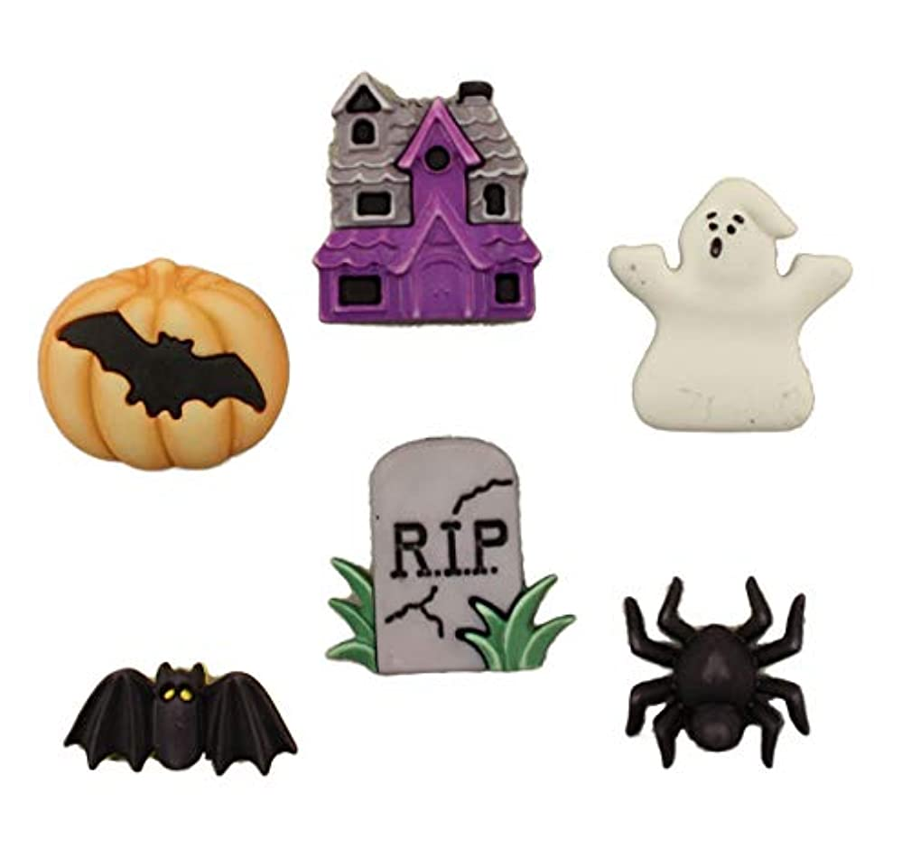 Buttons Galore Halloween Craft & Sewing Buttons - Happy Hauntings - Set of 3 Cards