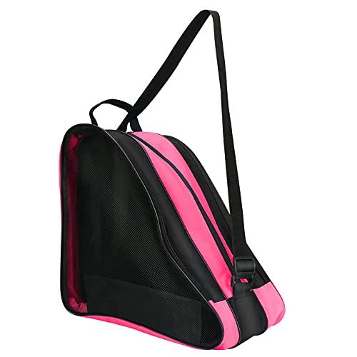 Rollschuh Tasche, zootop Verdickte Atmungsaktive EIS-/ Inline-/Rollschuh-Tragetasche, Schulter- und Tragegriff Oxford Tote Rollschuh-Tasche für Damen Herren Erwachsene und Kinder (Rosa)